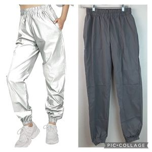 NWT Shein reflective jogger festival rave pants